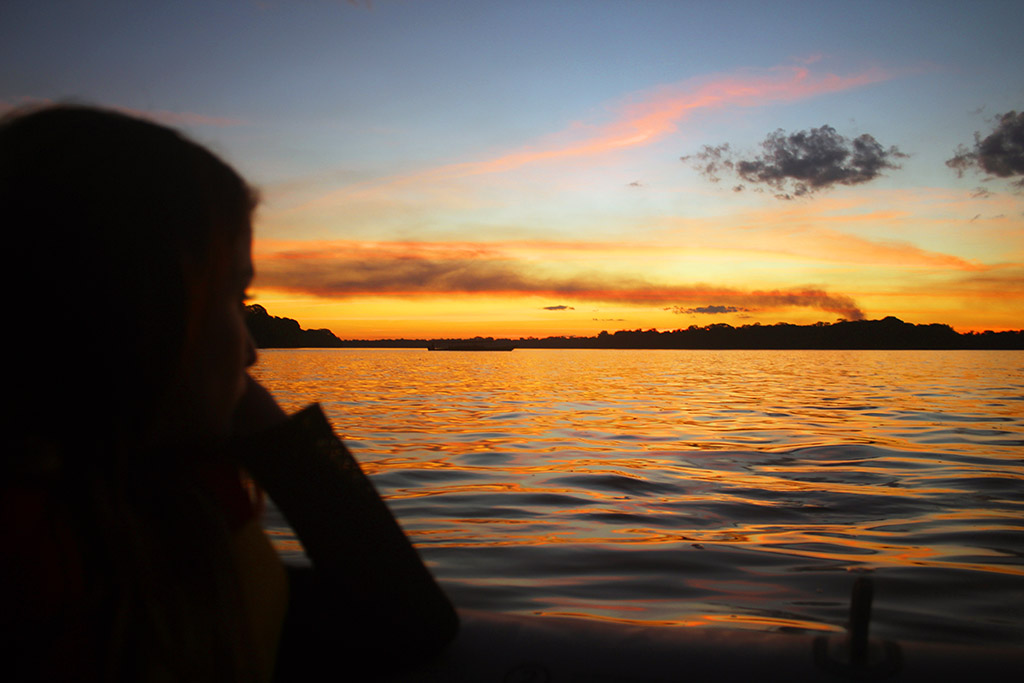 Sunset Amazon Peru